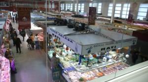 Vista del Mercat del Lleó des de l'Aula Gastronòmica